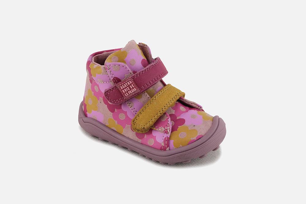 MYRTILLE FLORA Velcro shoes on La Botte