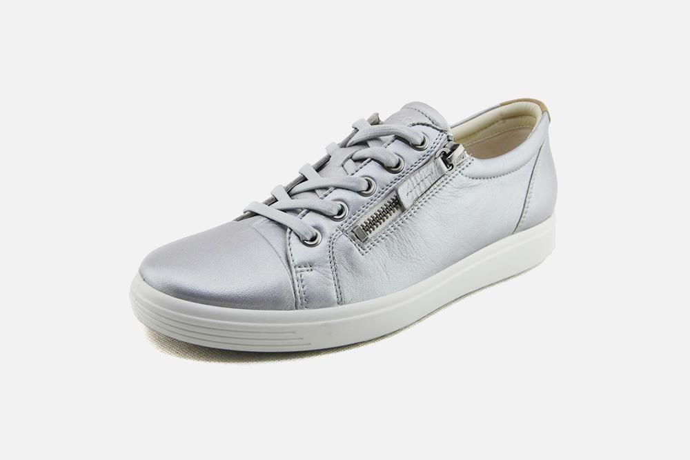 Ecco - SOFT 7 ZIP SILVER Sneakers on La Botte Chantilly