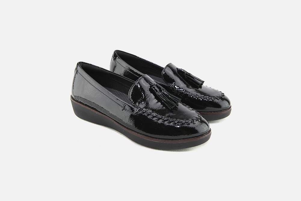 c51f17ab2 Fitflop - PAIGE MOC BLACK PATENT Loafers on La Botte Chantilly