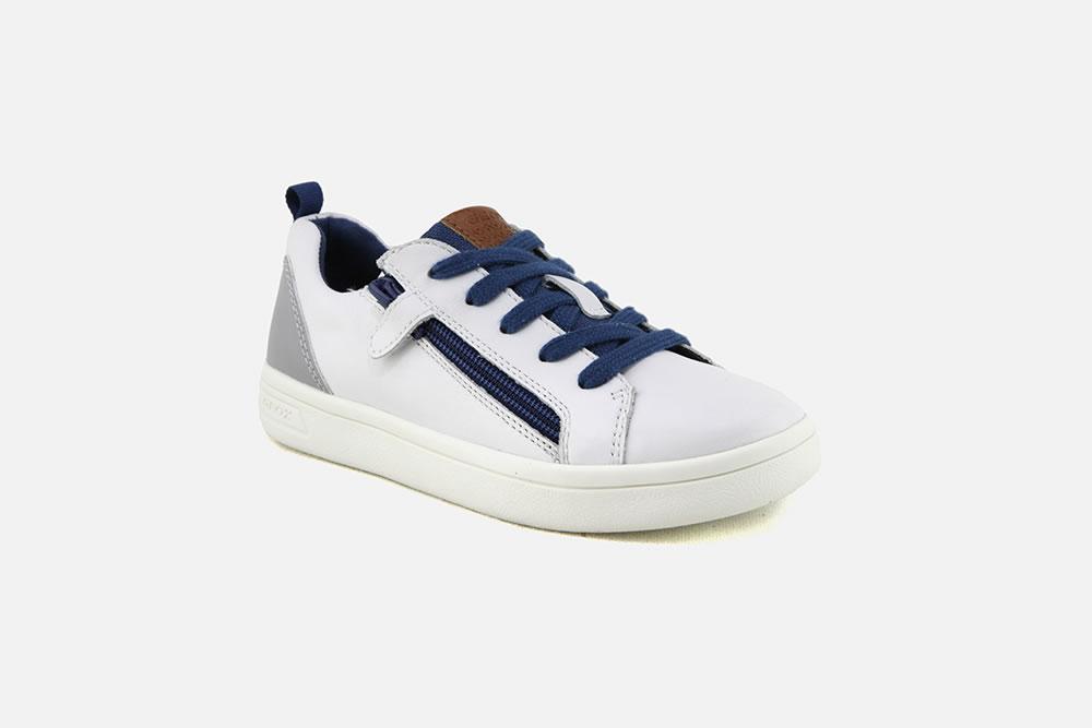 c846ce47d000c Geox DJROCK ZIP BLANC GRIS - Chaussures à lacets à La Botte Chantilly