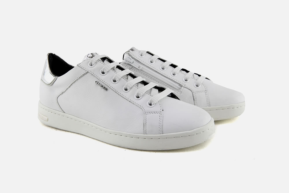 Geox - JAYSEN WHITE SILVER Sneakers on