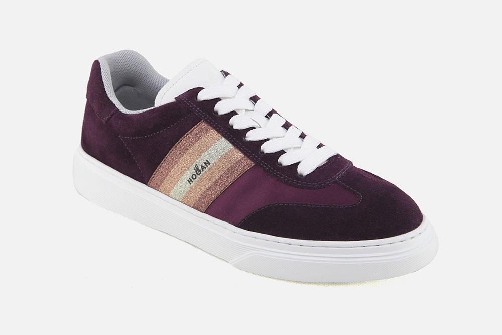 HOGAN 365 PRUNE COSMIC CANDY Sneakers on La Botte Chantilly