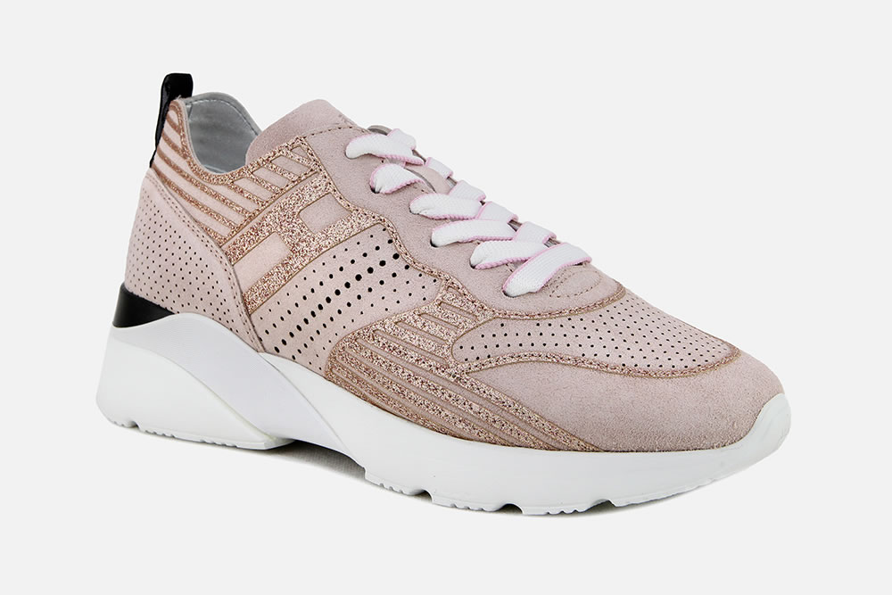 HOGAN ACTIVE 1 ROSE GLITTER Sneakers on La Botte Chantilly
