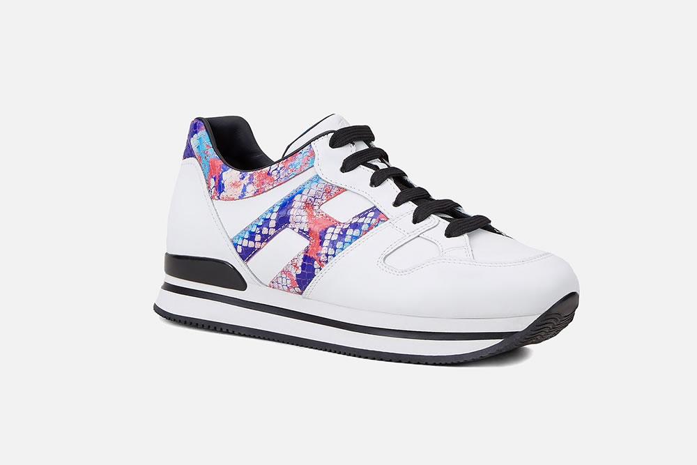HOGAN H222 BLANC MULTICOLORE Sneakers on La Botte Chantilly