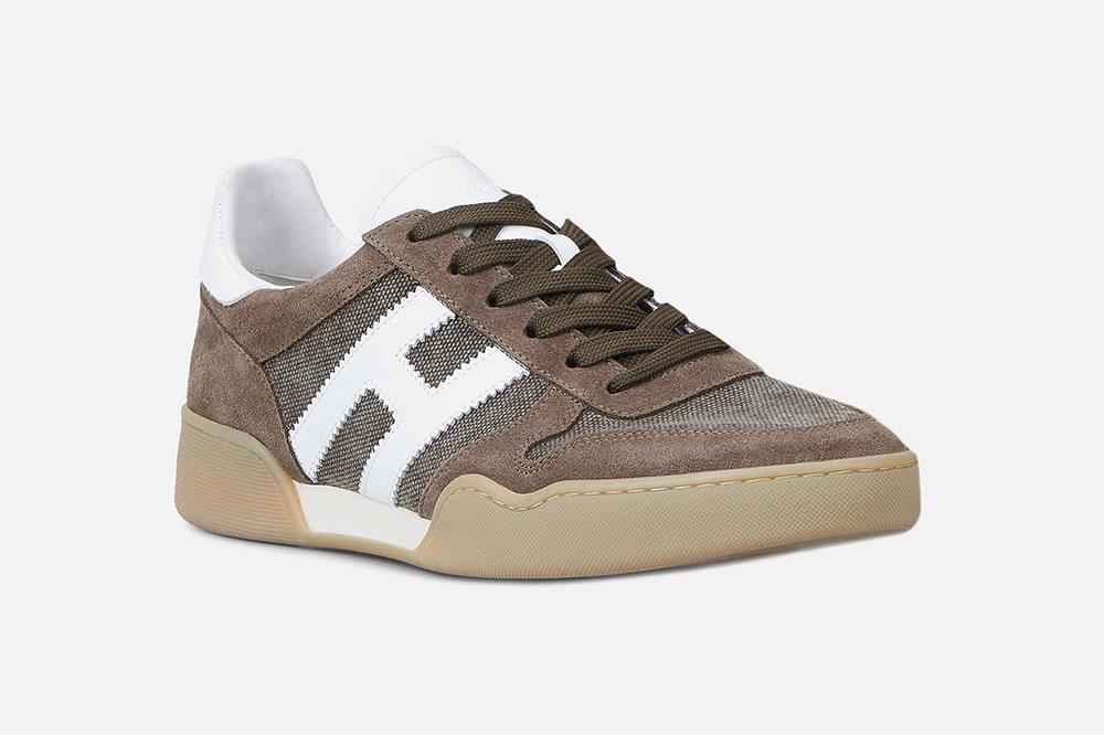 HOGAN H357 MARRON BLANC Sneakers on La Botte Chantilly