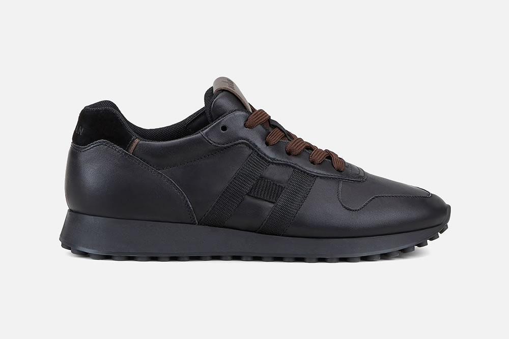 HOGAN H383 BLACK BROWN Sneakers on La Botte Chantilly