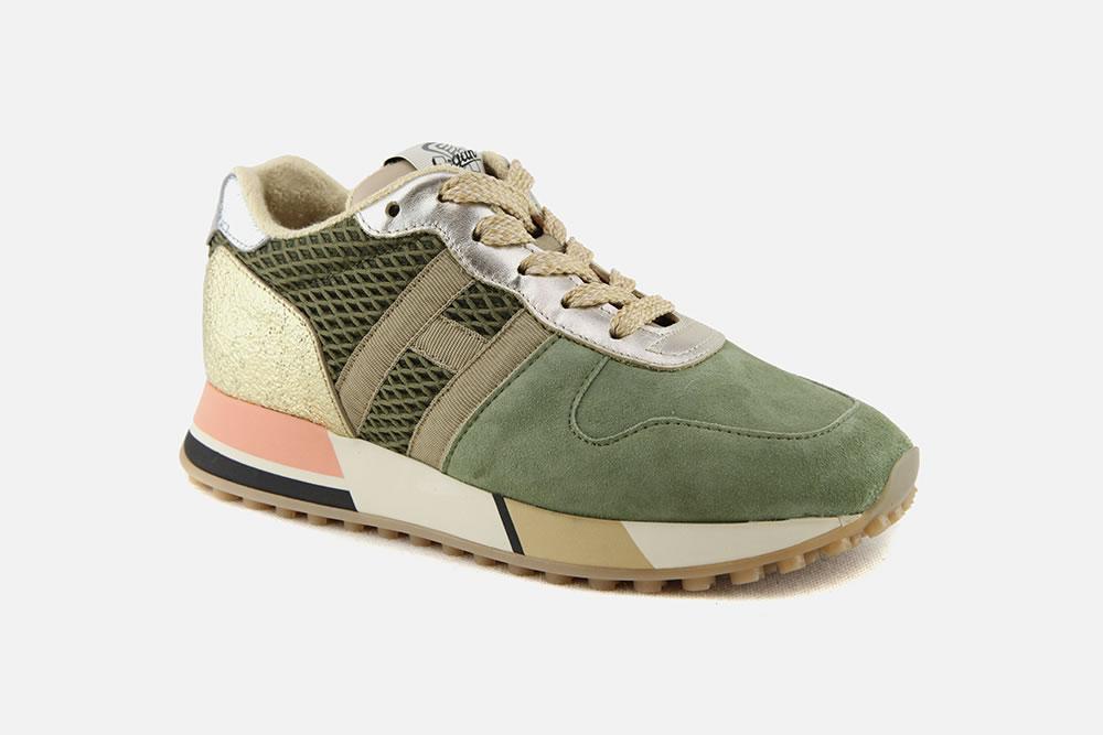 HOGAN H383 VERT SABLE OR Sneakers on La