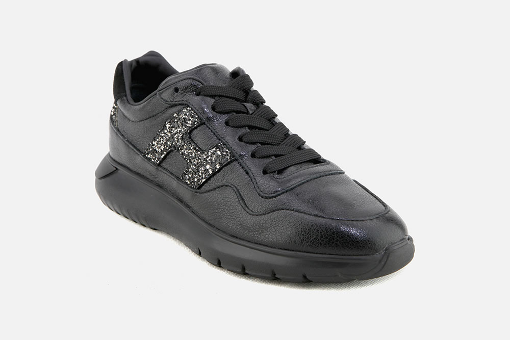 acheter populaire a3e8a d1e1b Hogan - HOGAN INTERACTIVE 3 NOIR DORE Sneakers on ...