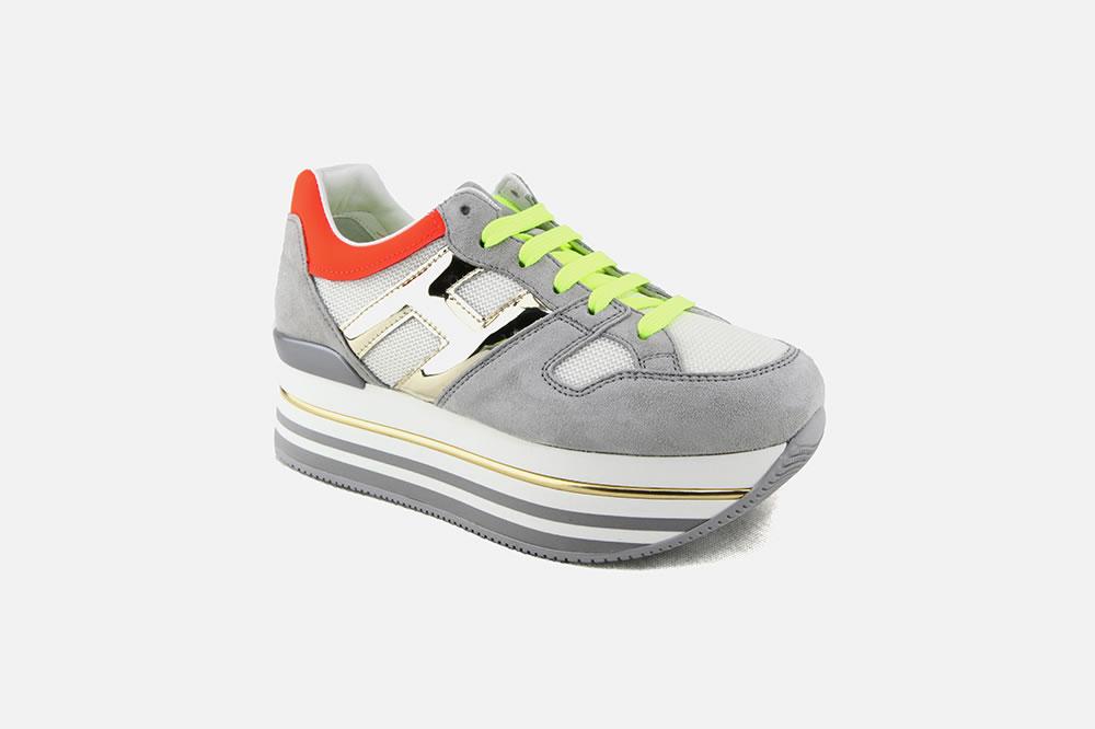 Hogan - HOGAN MAXI PLATFORM GRIS MULTI Sneakers on La ...