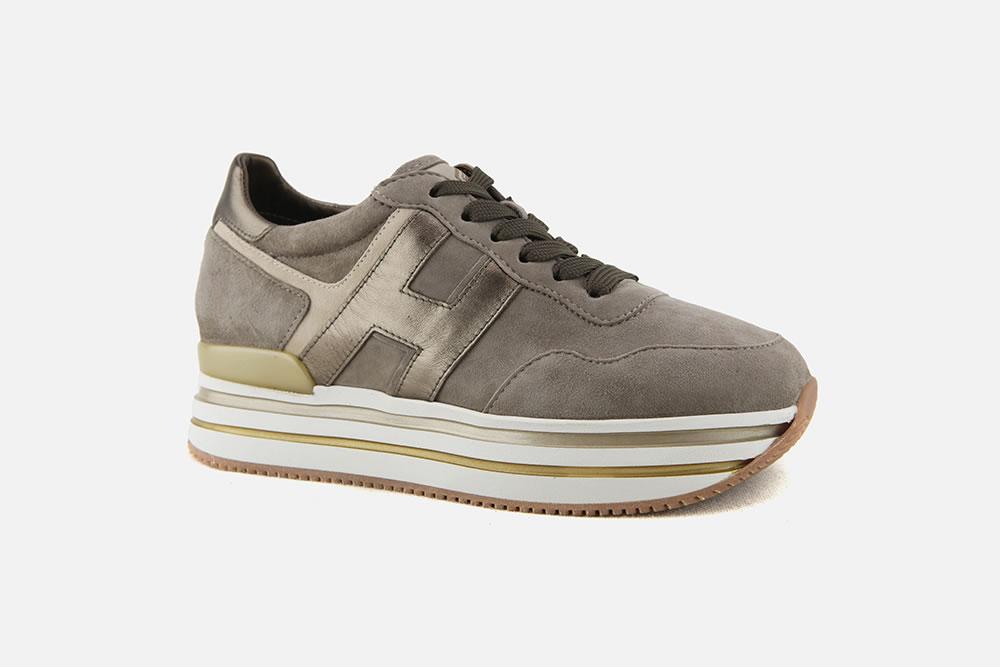 Hogan - HOGAN MIDPLATFORM SANDY BRONZE Sneakers on La ...