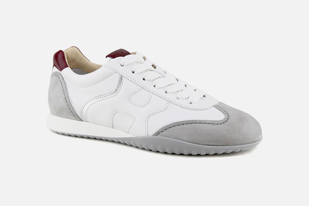HOGAN OLYMPIA Z WHITE GREY Sneakers on La Botte Chantilly