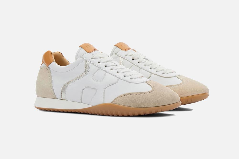 HOGAN OLYMPIA Z WHITE SANDY Sneakers on La Botte Chantilly