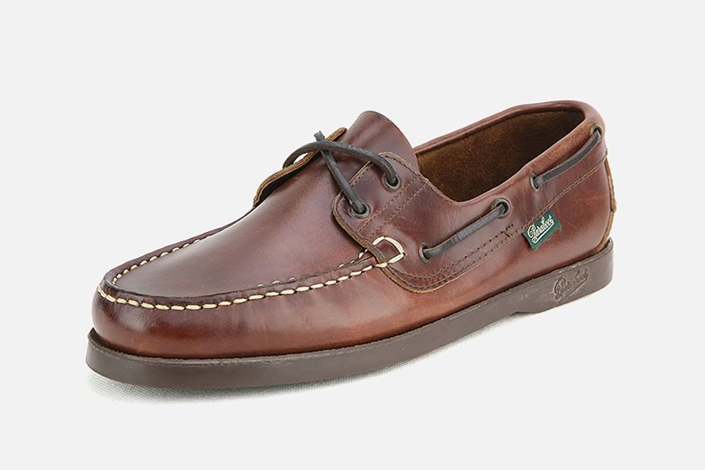 Paraboot barth lisse marron - Chaussures bateau à La Botte Chantilly 31bd27ed4031