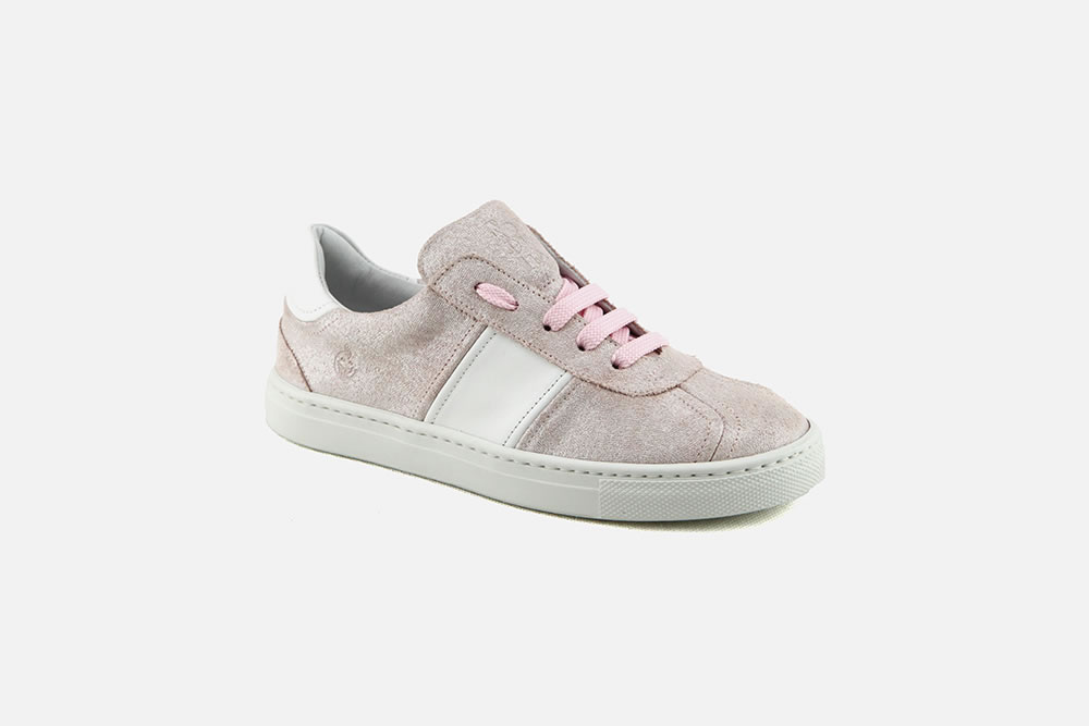 Rondinella clara rosa Chaussures à lacets à La Botte Chantilly