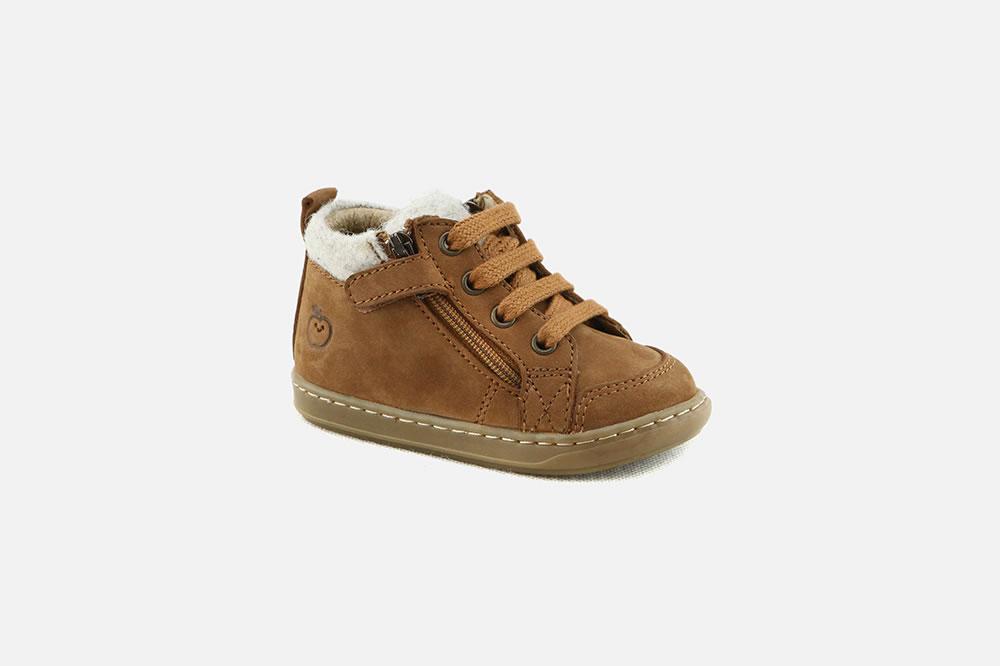 e594a34d1552 Shoo Pom - BOUBA ZIP WOOL TWEED CAMEL Lace-up boots on La ...