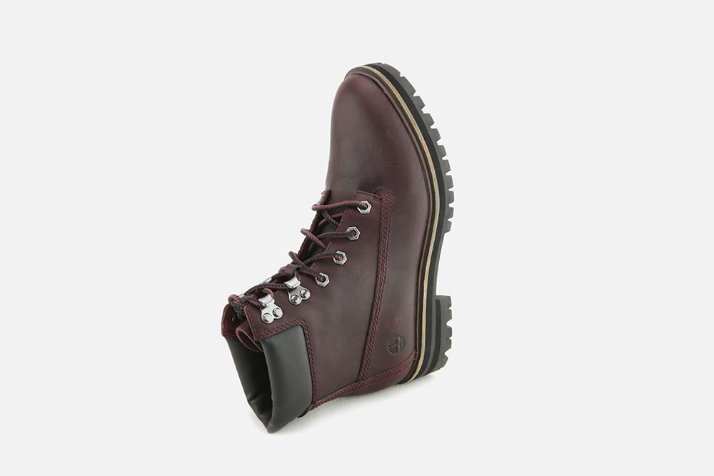Lace La London Square Burgundy Boots On Up Timberland 4R3S5AjqcL