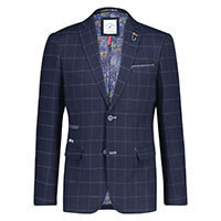 BLAZER BLUE WINDOWPANE - A Fish Named Fred