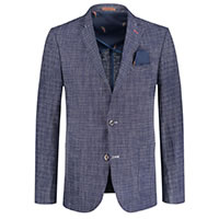 BLAZER LINEN MESSY CHECK - A Fish Named Fred