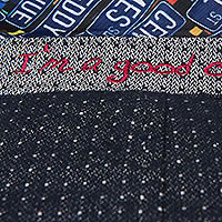 BLAZER MINI SQUARES DENIM - A Fish Named Fred