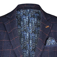 BLAZER NAVY RED WINDOWPANE - A Fish Named Fred