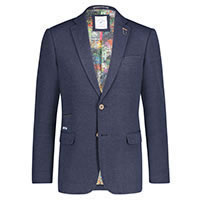 BLAZER STRUCTURED KNIT BLUE - A Fish Named Fred