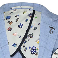 BLAZER WINDOWPANE BLUE - A Fish Named Fred