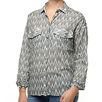 BLOUSE BLACK STRIP - A Fish Named Fred
