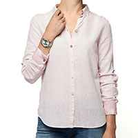 BLOUSE PINK LINNEN - A Fish Named Fred