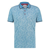 POLO BLUE FLORAL PIQUE - A Fish Named Fred