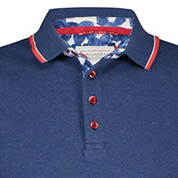 POLO NAVY MELANGE PIQUE - A Fish Named Fred