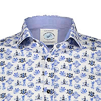 SHIRT DELFTS WHITE BLUE - A Fish Named Fred