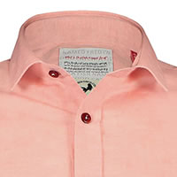 SHIRT LINEN CORAL RED - A Fish Named Fred