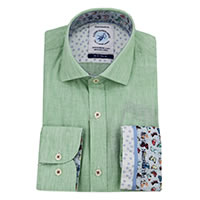 SHIRT LINEN GREEN - A Fish Named Fred