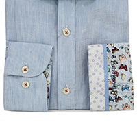 SHIRT LINEN LIGHT BLUE - A Fish Named Fred
