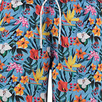 SWIMSHORT FLORAL LIGHT BLUE - A Fish Named Fred
