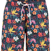 SWIMSHORT FLORAL NAVY - A Fish Named Fred