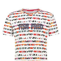 TSHIRT FLORAL WHITE - A Fish Named Fred