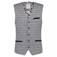 WAISTCOAT COLORFUL CHECK - A Fish Named Fred