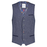 WAISTCOAT RECYCLED BEND BLUE - A Fish Named Fred