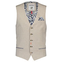 WAISTCOAT SAND LINEN LOOK - A Fish Named Fred