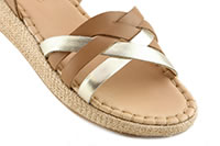 WEDGE TAN PLATINE - Adolie