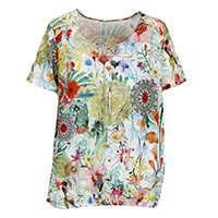 TOP CORAZON MULTI FLORAL - Bagoraz