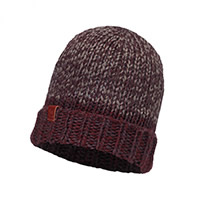 KNITTED POLAR HAT WINE - Buff