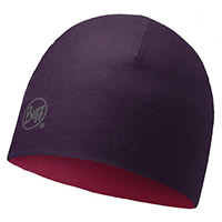 MERINO REVERSIBLE PLUM - Buff