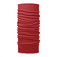 MIDWEIGHT MERINO SOLID RED - Buff