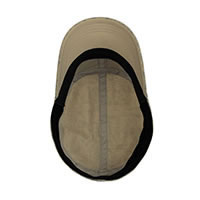 MILITARY CAP ZINC BROWN - Buff