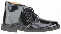 DESERT BOOT LACK BLACK - Clarks Originals