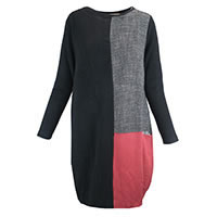 ROBE JANET BLACK GREY BRICK - Cocòl
