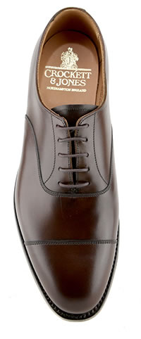 CONNAUGHT 2 DK BROWN CITY SOLE - Crockett & Jones
