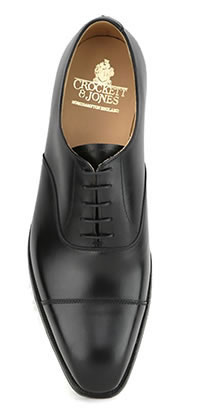 HALLAM BLACK LEATHER SOLE - Crockett & Jones